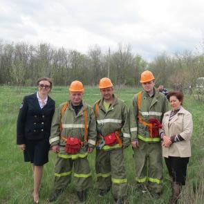 Добровольная пожарная команда ВДПО г.Шахты приняла участие в пожарно-тактическом учении