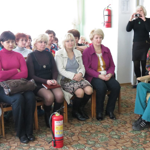 Занятие в «Центре социального обслуживания пожилых граждан г. Шахты»