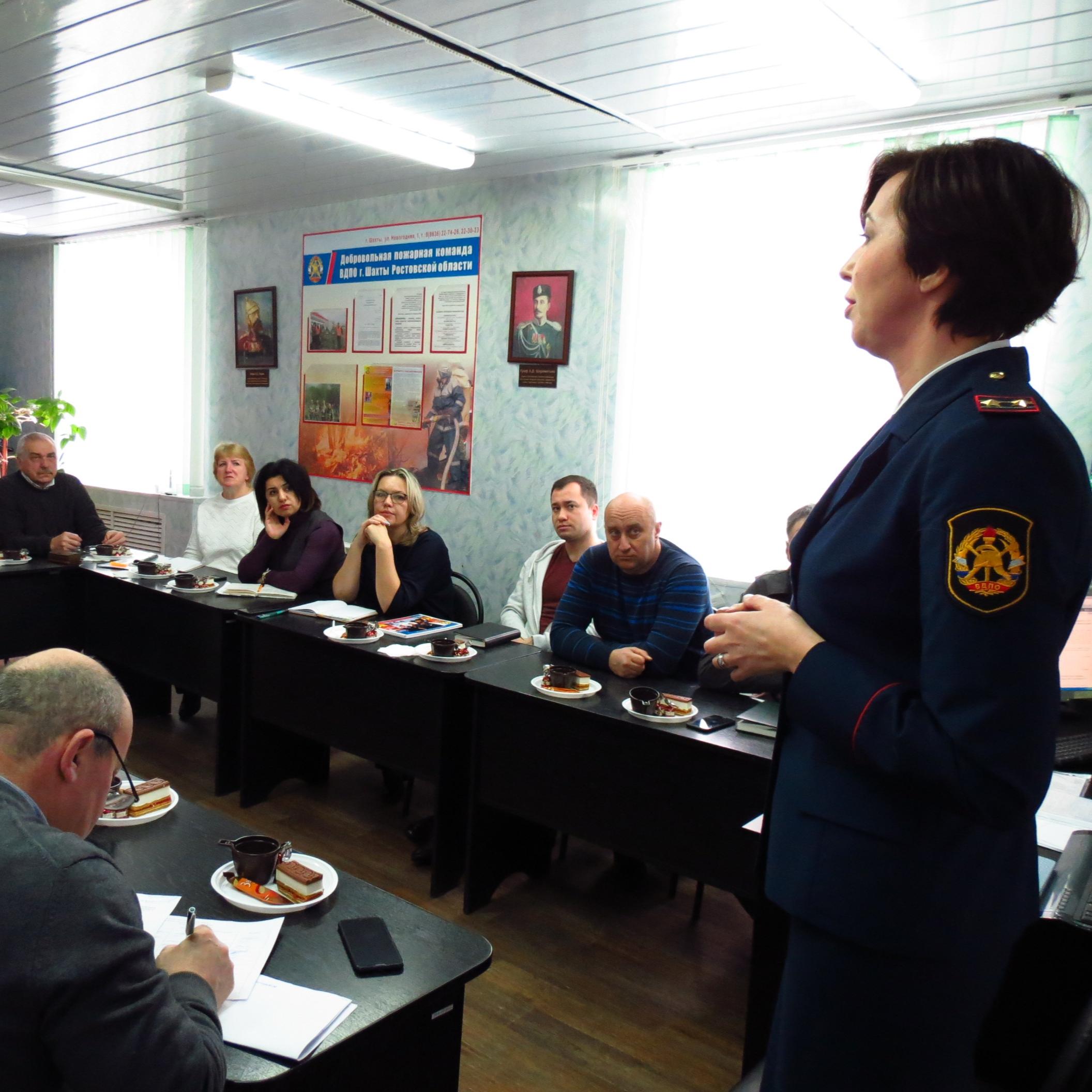 Сбор руководителей Дружин юных пожарных
